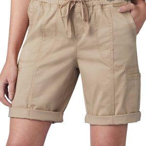 Lee Flex-To-Go Pull-On Twill Cargo Bermuda Shorts